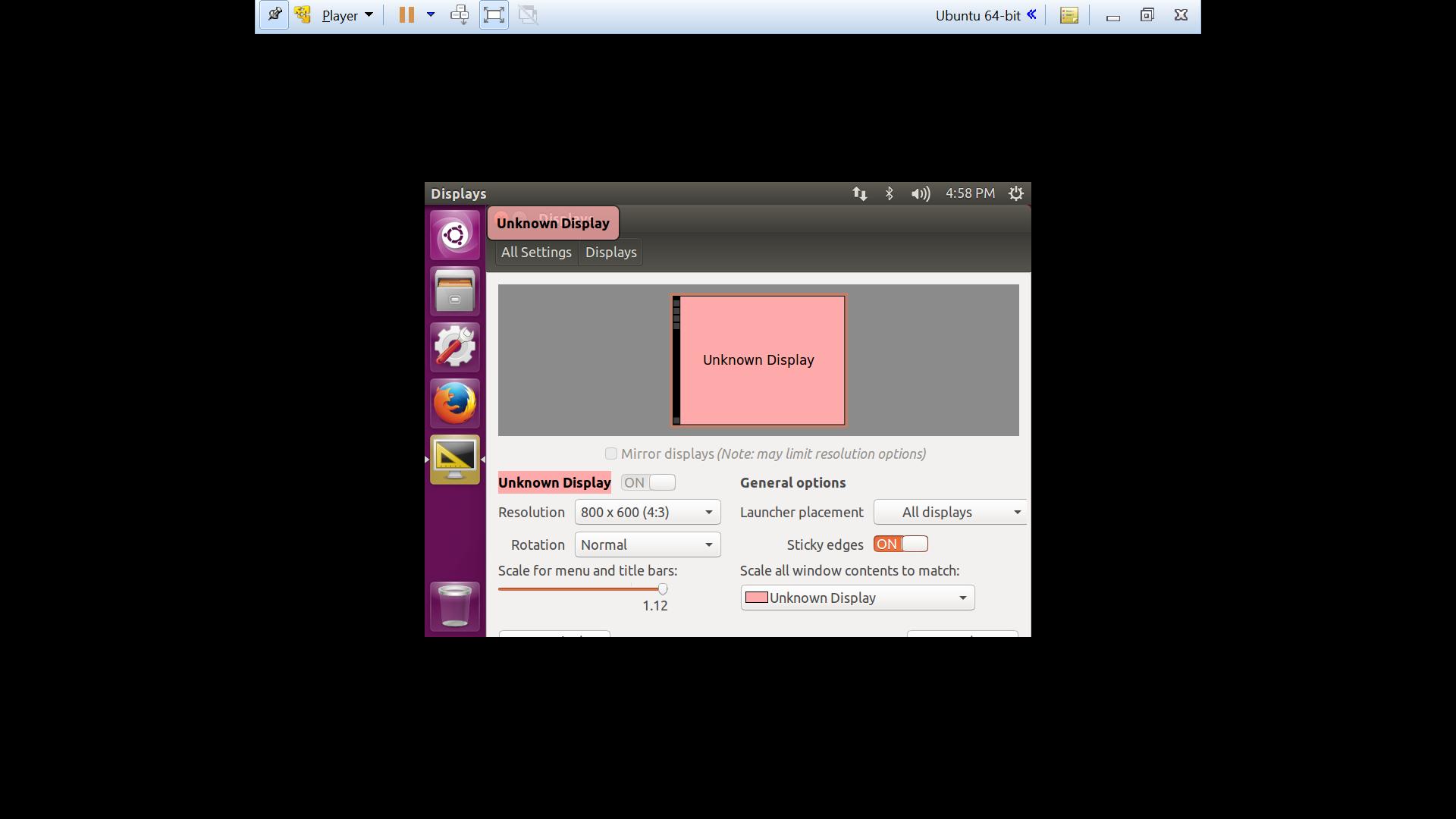 Ubuntu 16 04 VMWare: Fullscreen Fix